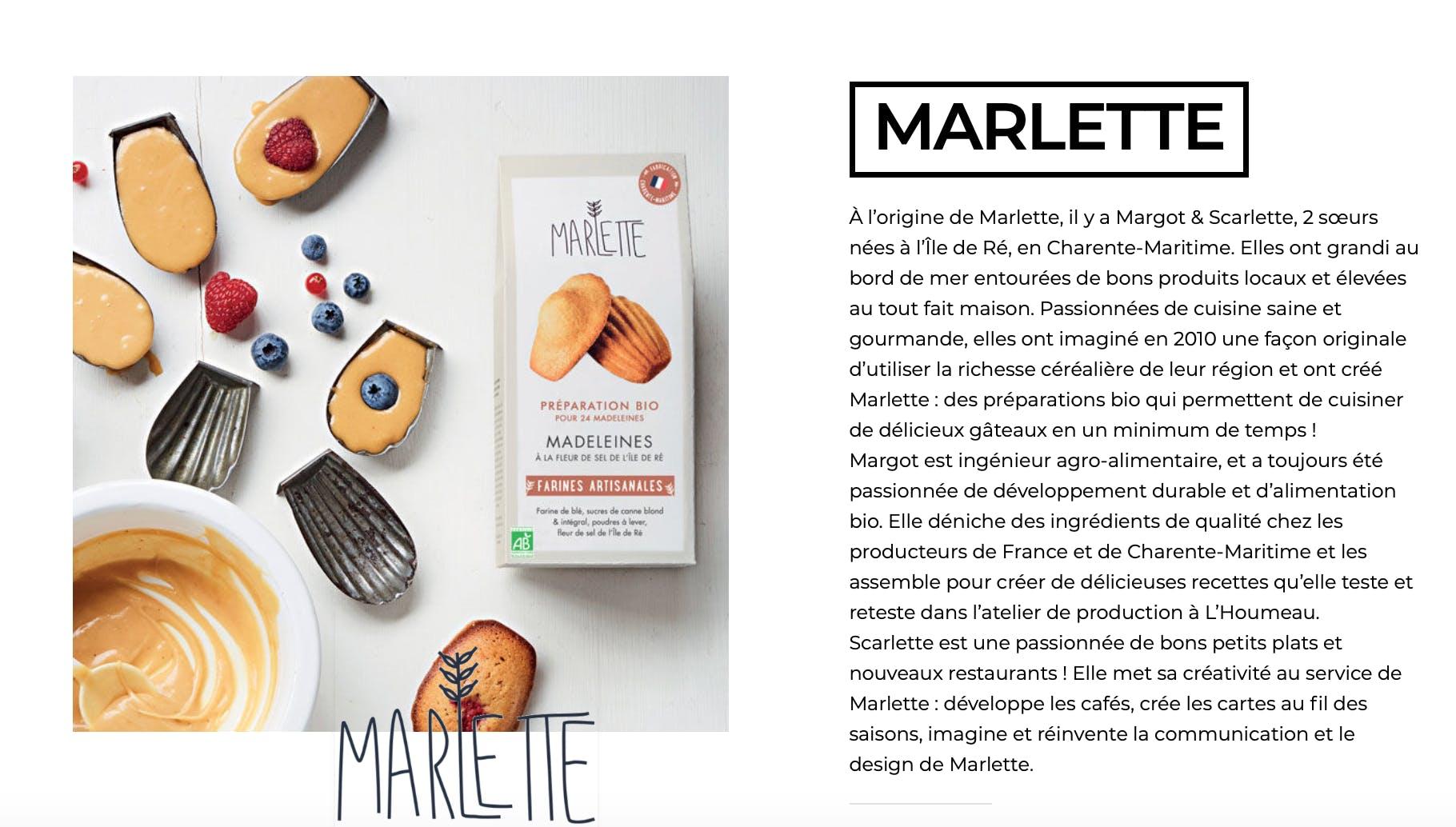 Fiche produit Marlette
