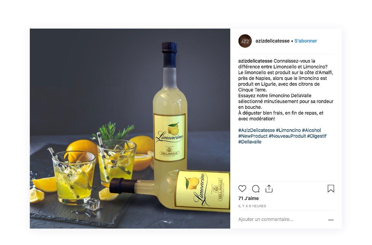Présentation d'un nouveau produit de votre boutique grâce Instagram
