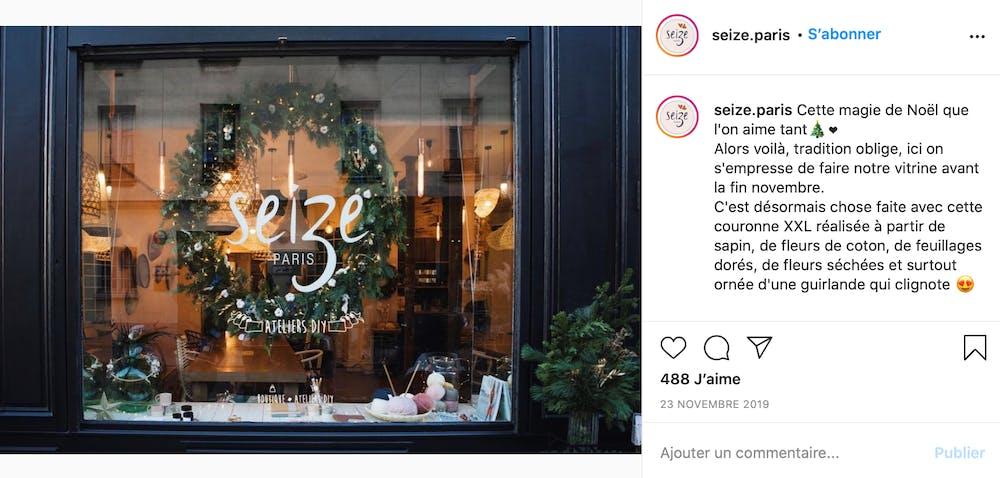 Seize Paris vitrine de Noël