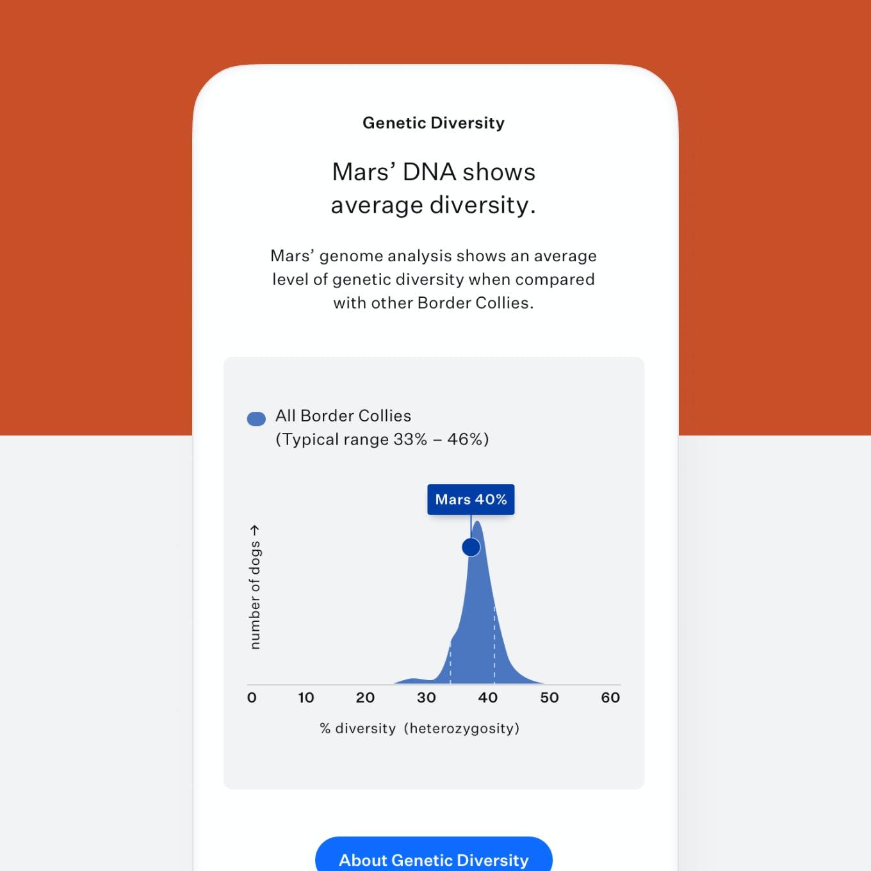 Dog DNA test genetic diversity score