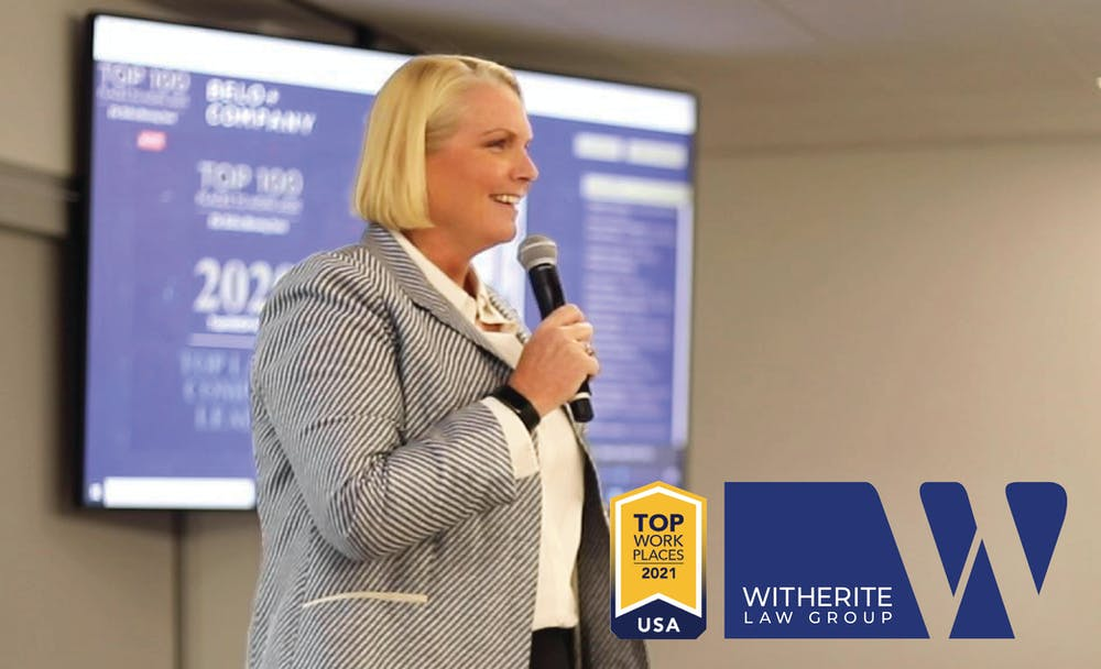 WITHERITE LAW GROUP NAMED A 2021 TOP WORKPLACE IN THE US