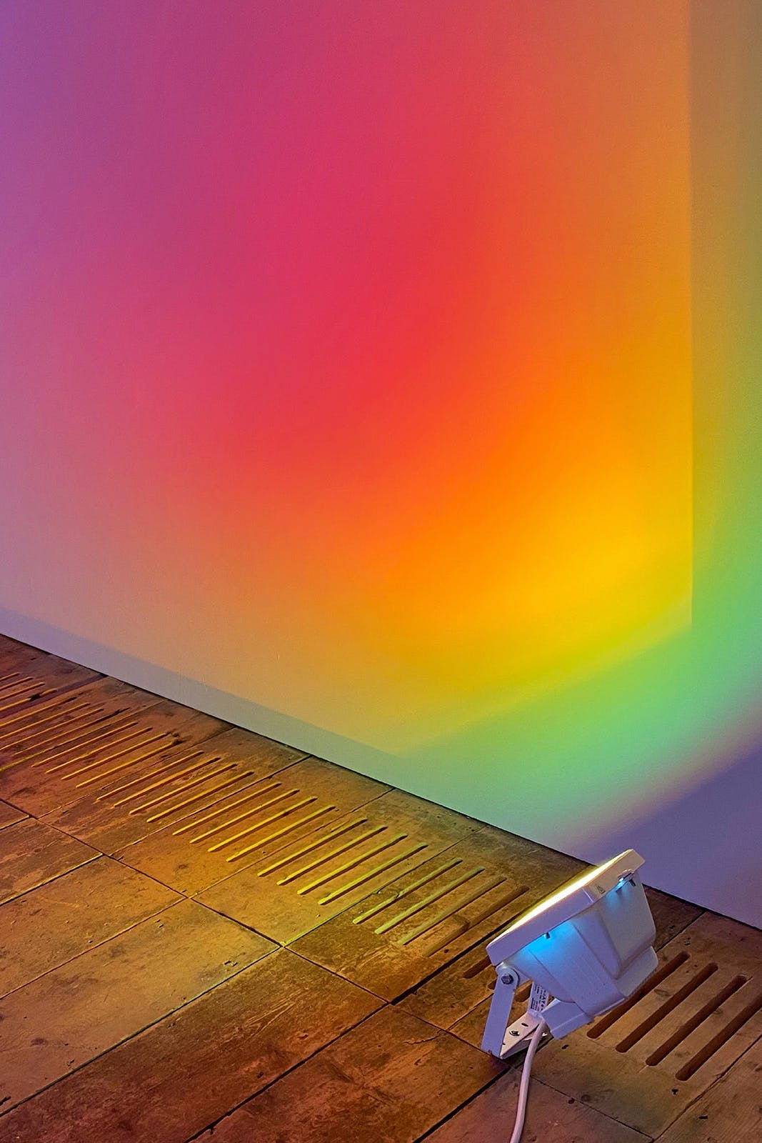 Ann Veronica Janssens: Hot Pink Turquoise, Exhibition, Type, Print, Graphic Design by Wolfe Hall