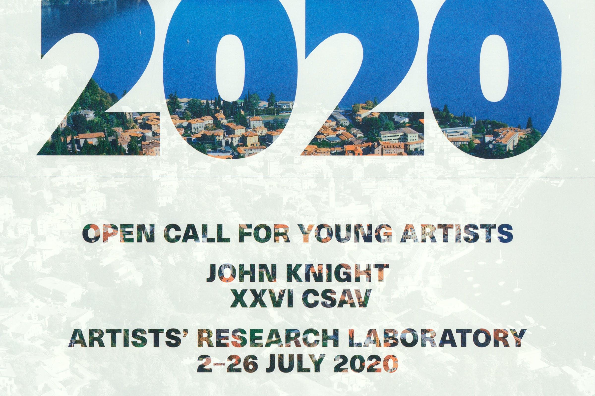 Fondazione Antonio Ratti, XXVI CSAV Artists' Research Laboratory, COMO 2020, Graphic Design by Wolfe Hall