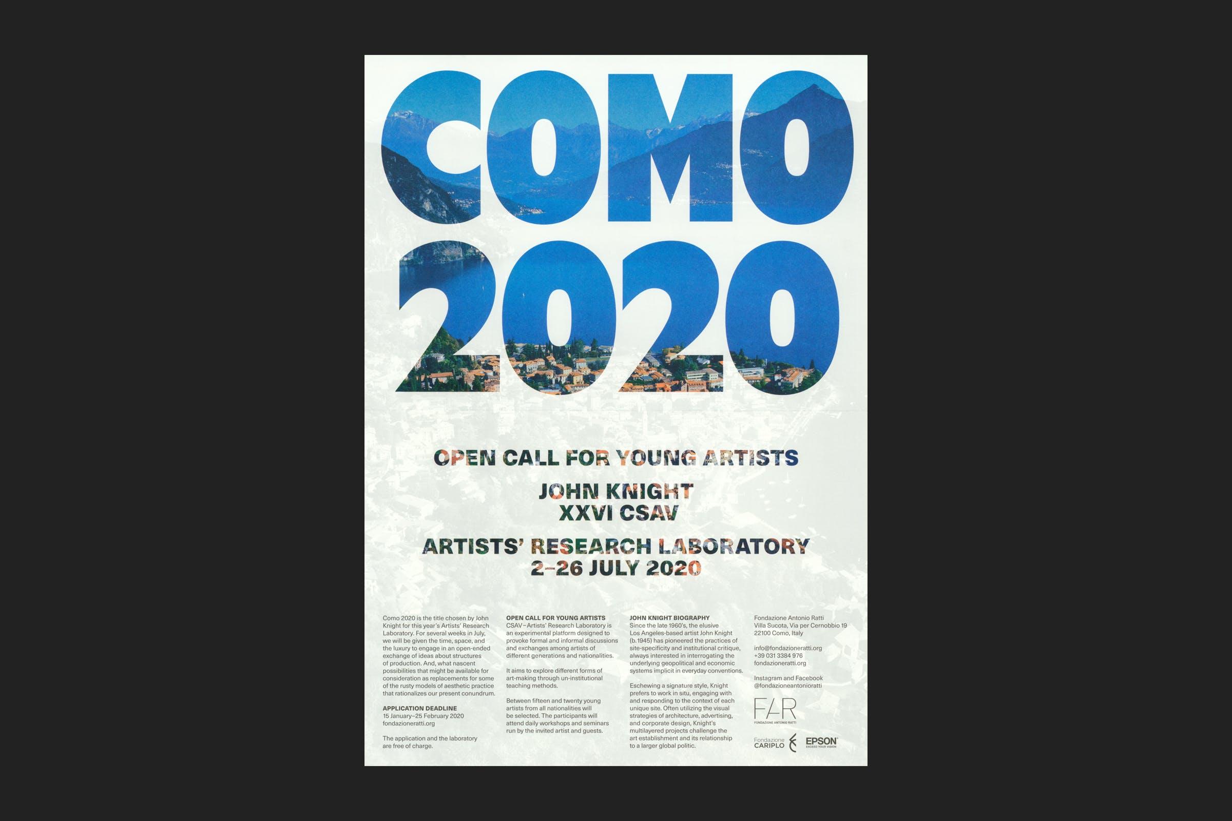 Wolfe Hall, como, como 2020, Lake Como, john knight, poster, poster design, Graphic Design