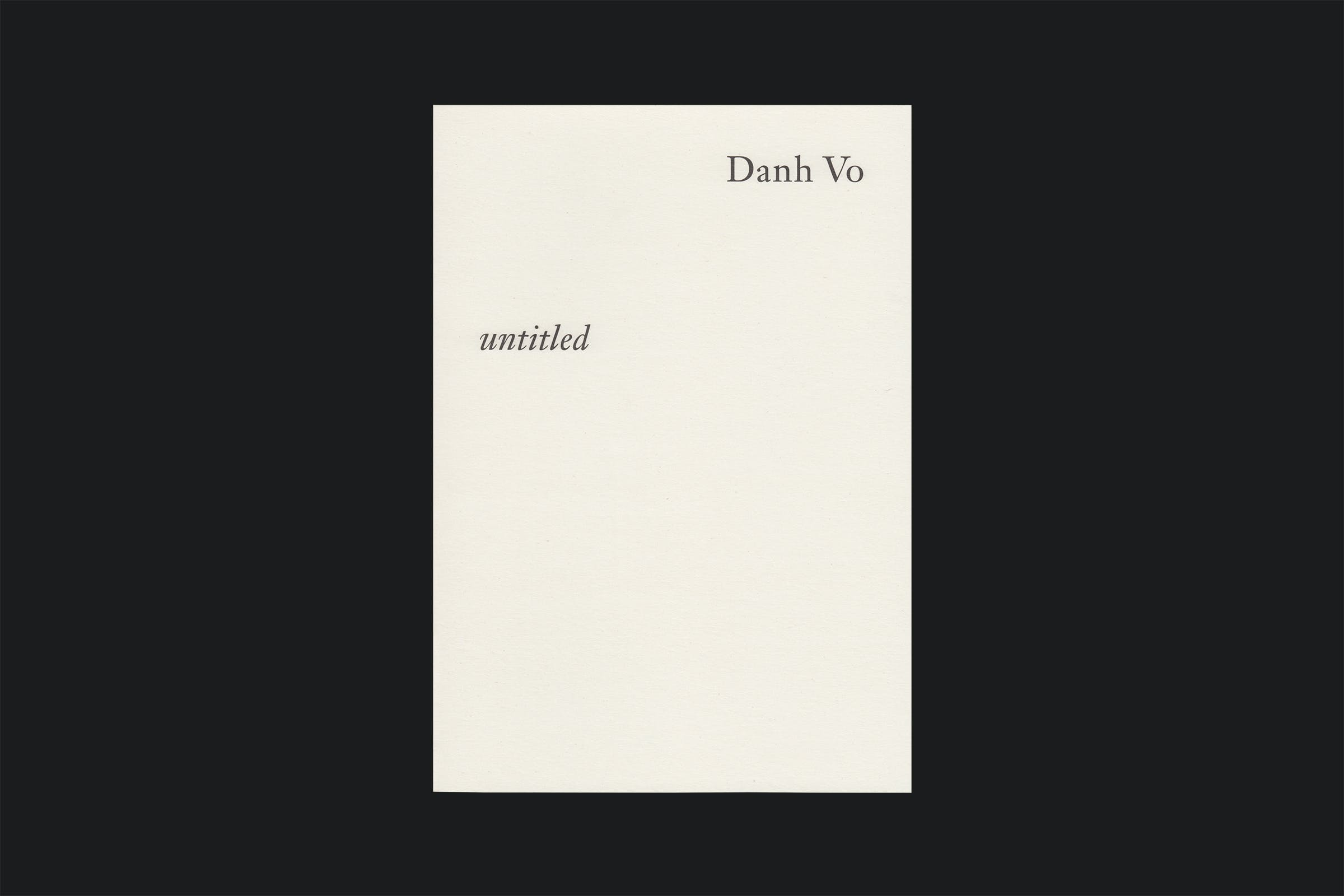 Wolfe Hall, untitled, dahn vo, south london gallery, gallery guide, graphic design