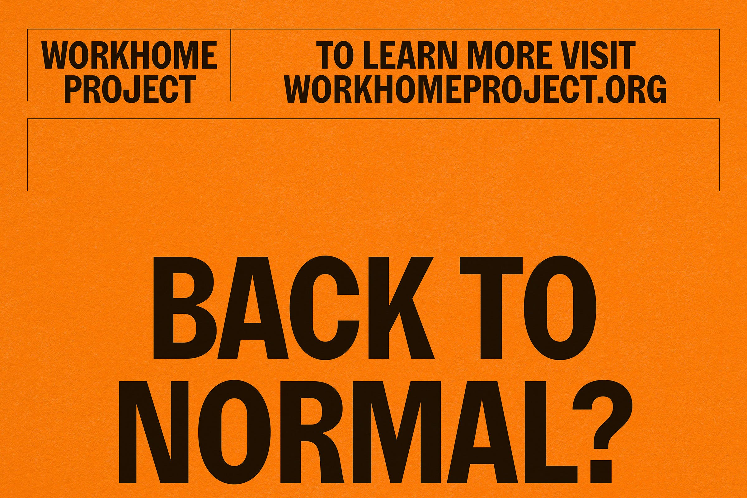Workhome Project, identity, Graphic Design by Wolfe Hall