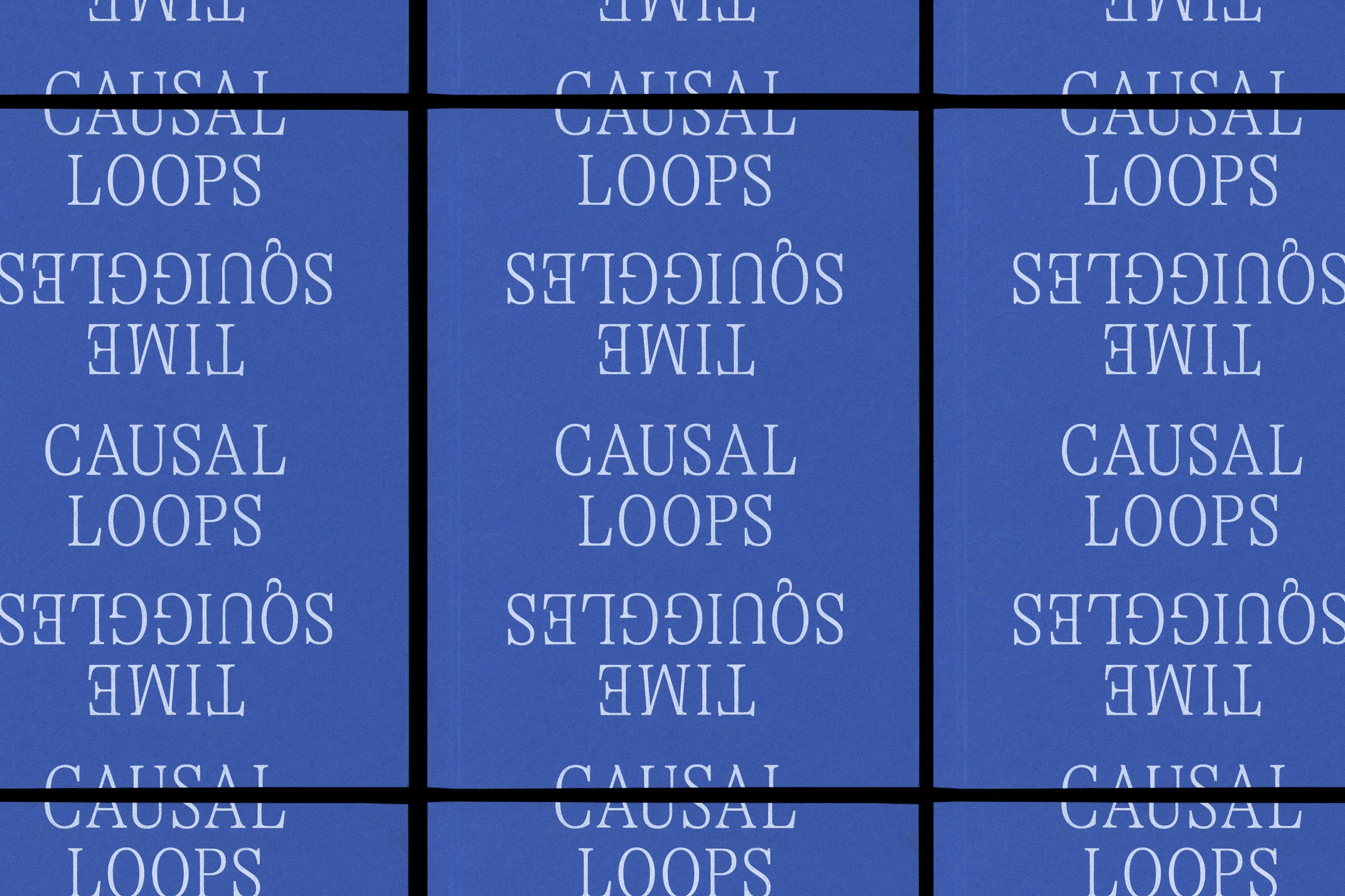Fondazione Antonio Ratti, Causal Loops/Time Squiggles, Publication, Graphic Design by Wolfe Hall