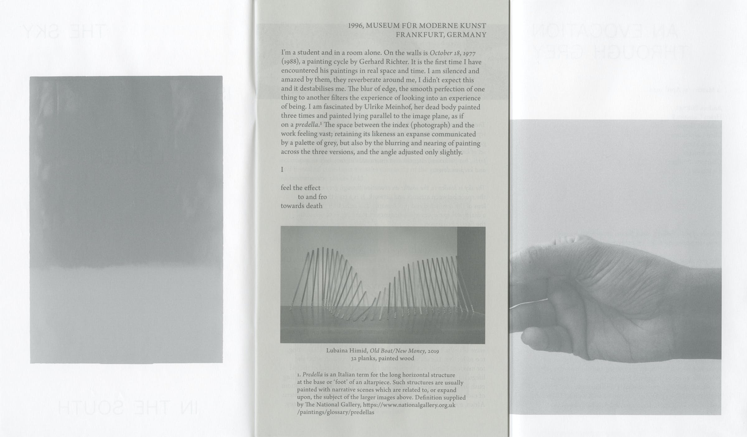Hollybush Gardens, The Sky is Leaden in the South: An Evocation Through Grey, Print, Graphic Design by Wolfe Hall