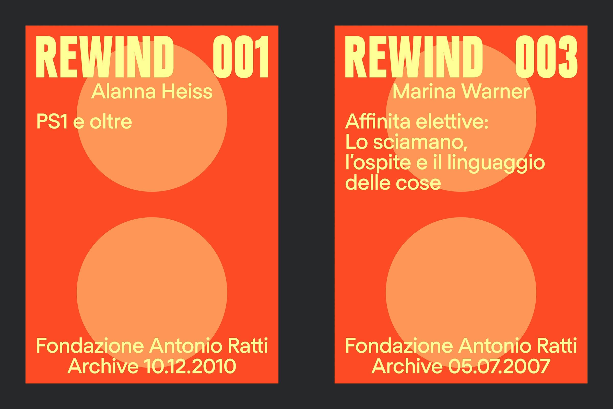 Fondazione Antionio Ratti, REWIND, Campaign Identity, Graphic Design by Wolfe Hall