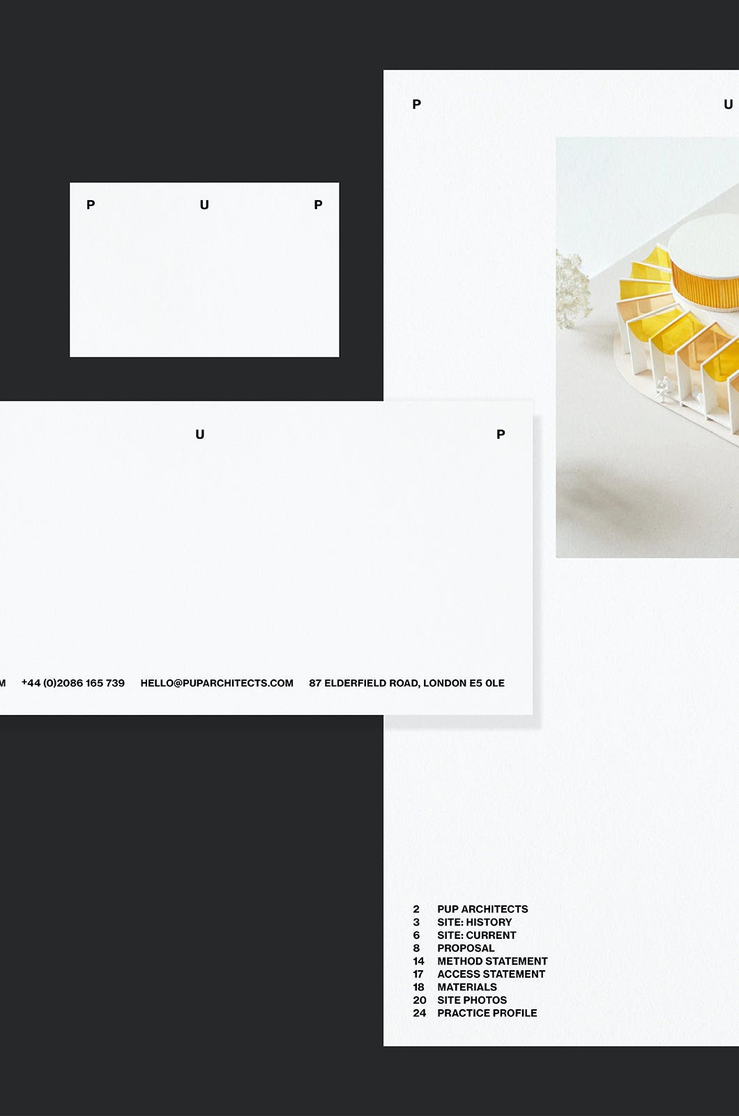 PUP Architects, identity, Graphic Design by Wolfe Hall