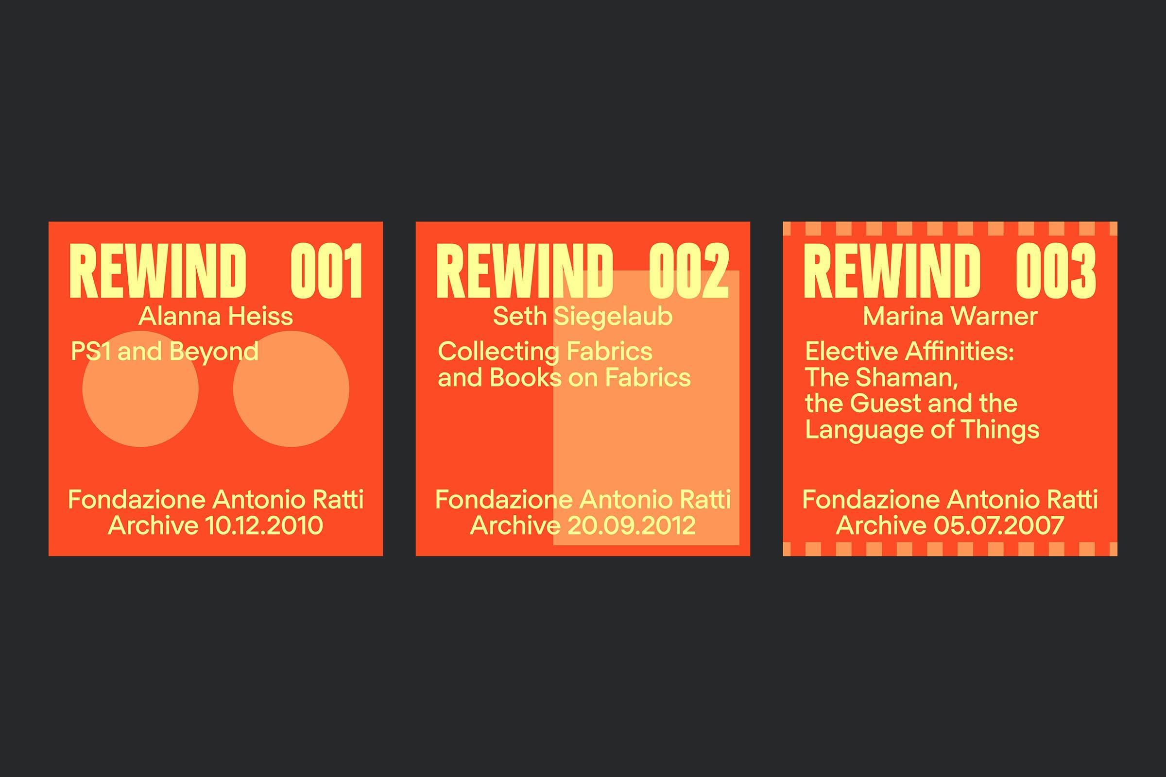 Wolfe Hall, Rewind, Antonio Ratti, Ratti, Archive, Graphic Design
