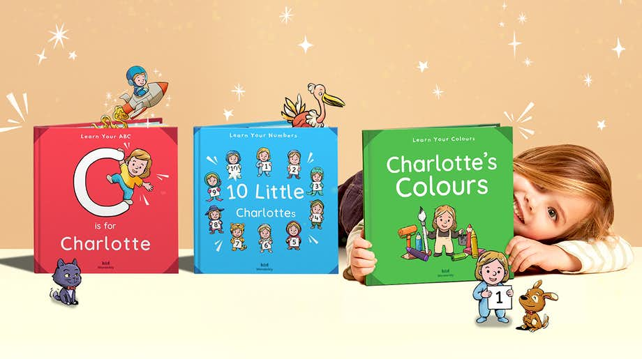 Little girl with the Little Learners collection