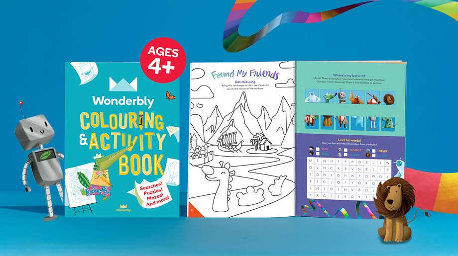 Wonderbly Colouring and Activity Book