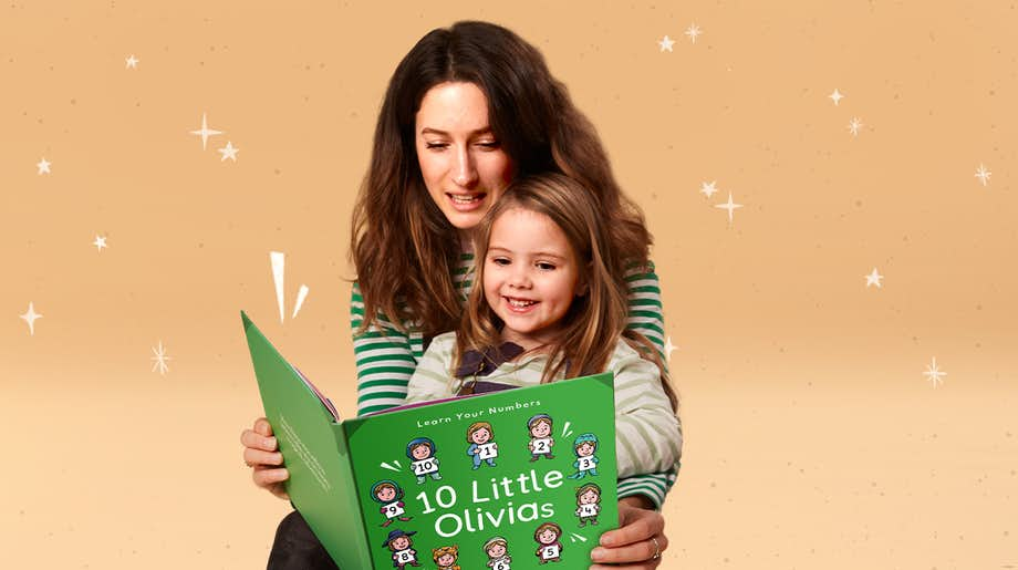 Mother and child reading 10 Little Yous