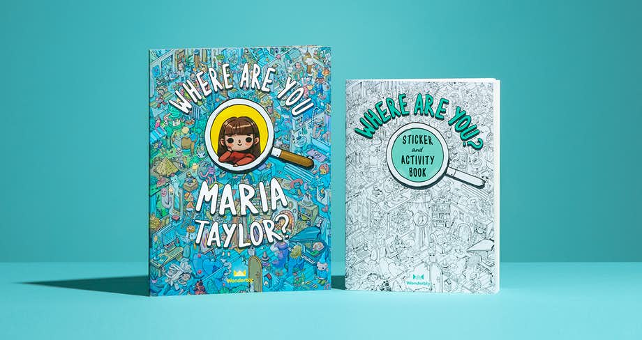 Image of the Jumbo Where Are You book alongside the Where Are You Sticker & Activity book