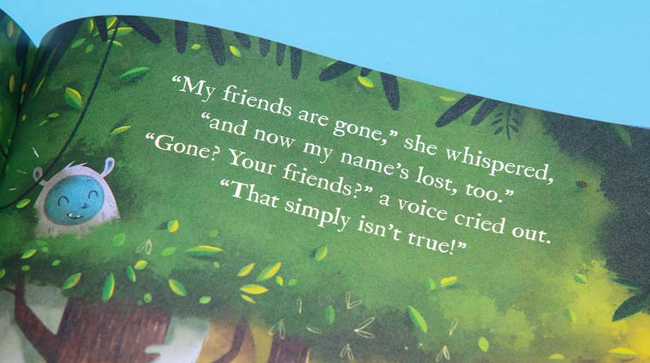 Inside spread in Found My Friends