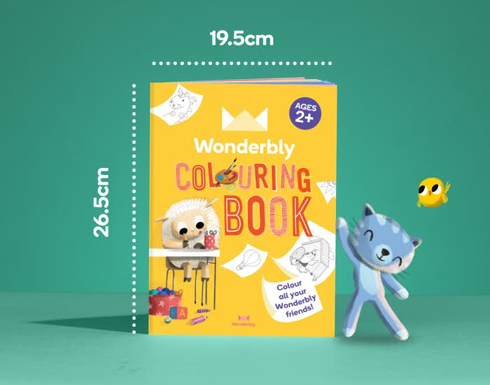 Dimensions of Wonderbly Coloring Book