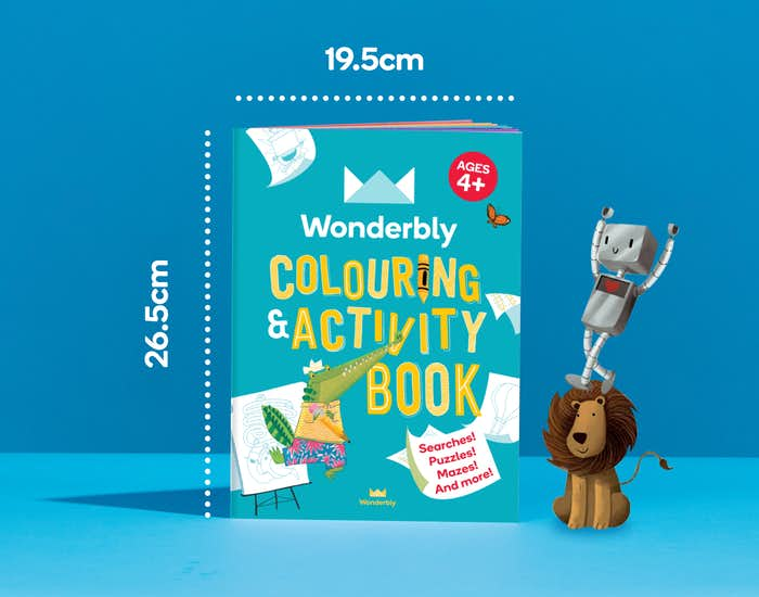 Dimensions of Wonderbly Colouring and Activity Book