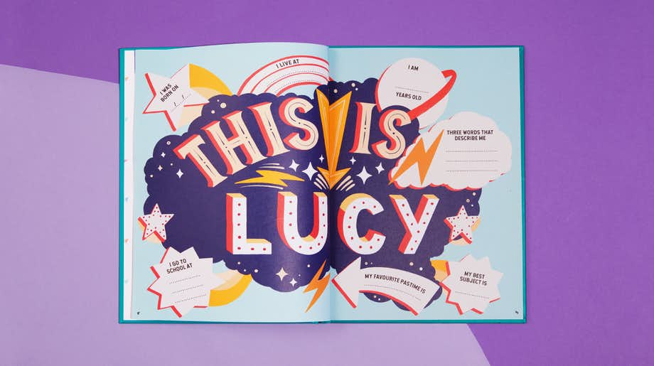 This is Lucy book spread