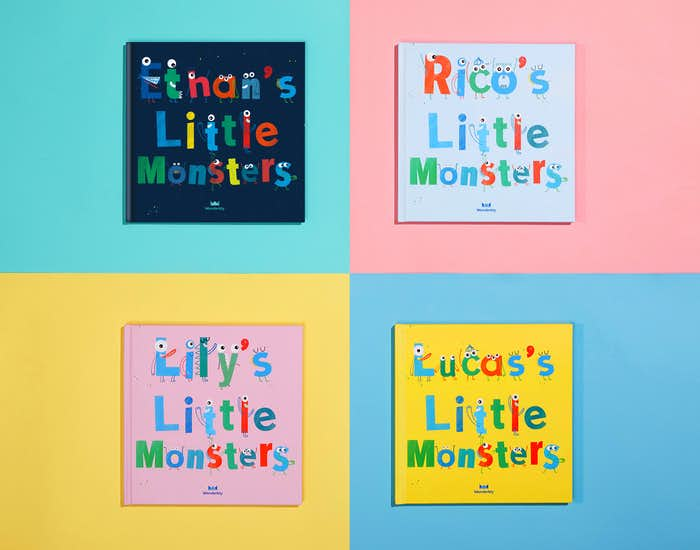 4 My Little Monsters Books Covers