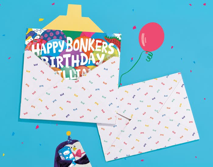 Happy Bonkers Birthday in giftwrap
