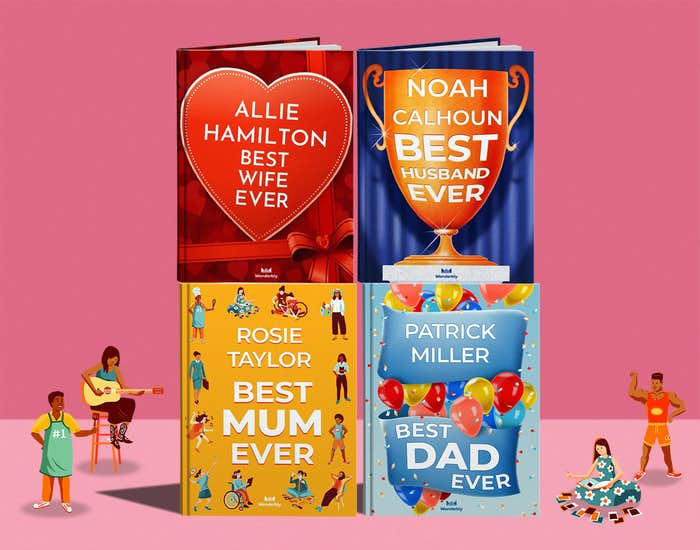 Selection of personalised grown up books