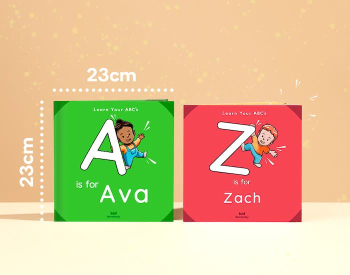 An image showing the 2 different formats of the personalised book