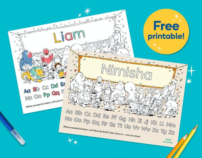 ABC For You free personalised printable