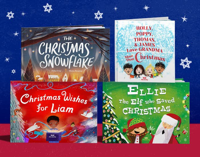 Wonderbly personalised christmas book colleciton