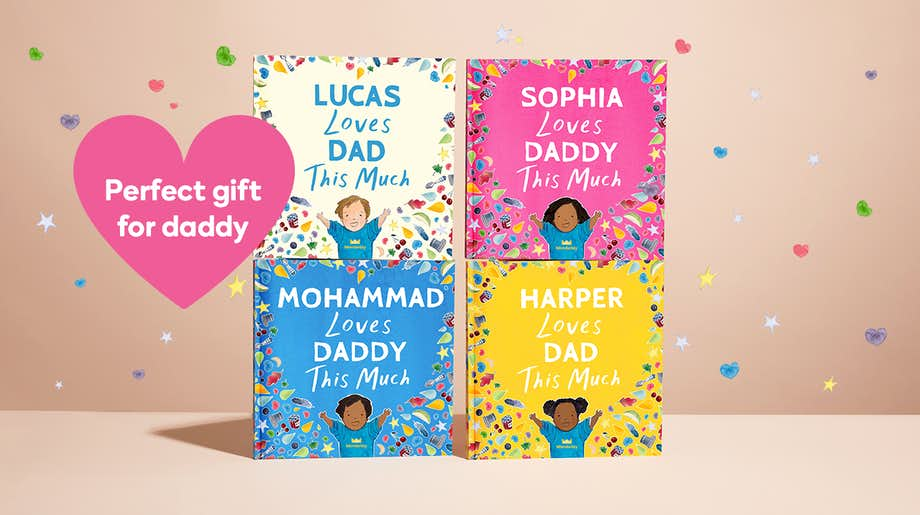 Four colour options for the front cover showing Dad and Daddy