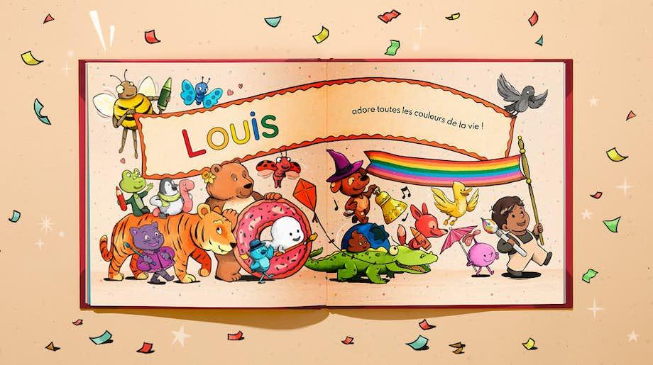 Double-page personnalisée de Toi et les couleurs