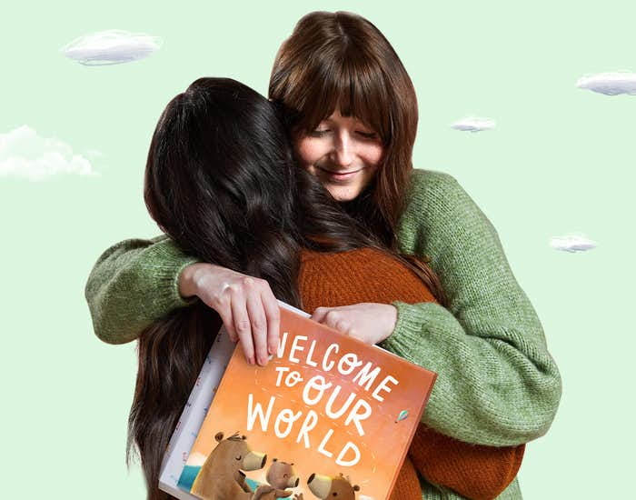 Friends gifting a copy of Welcome To Our World
