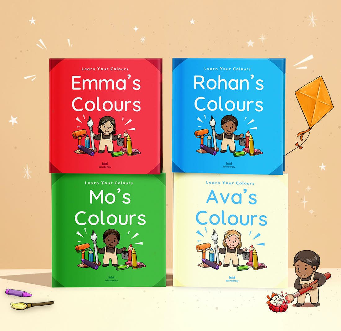 Stack of Your Colours books showing the front cover