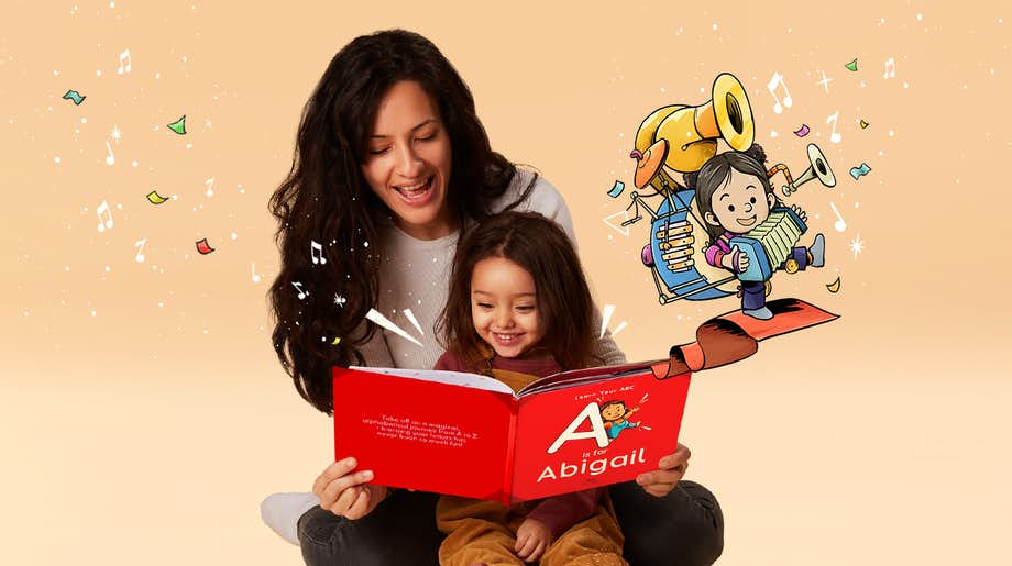Mother and daughter reading ABC For You