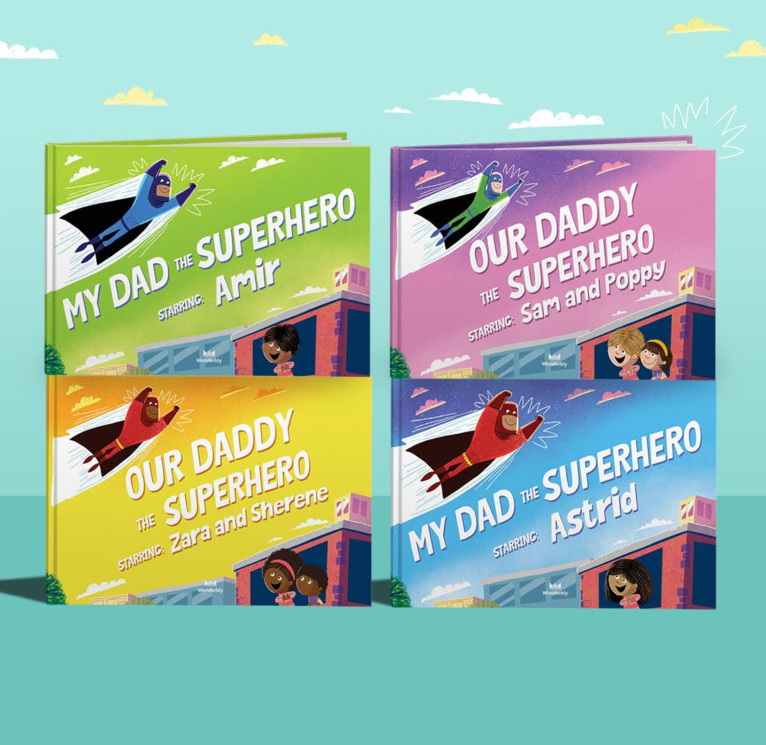 Our Dad the Superhero personalised covers