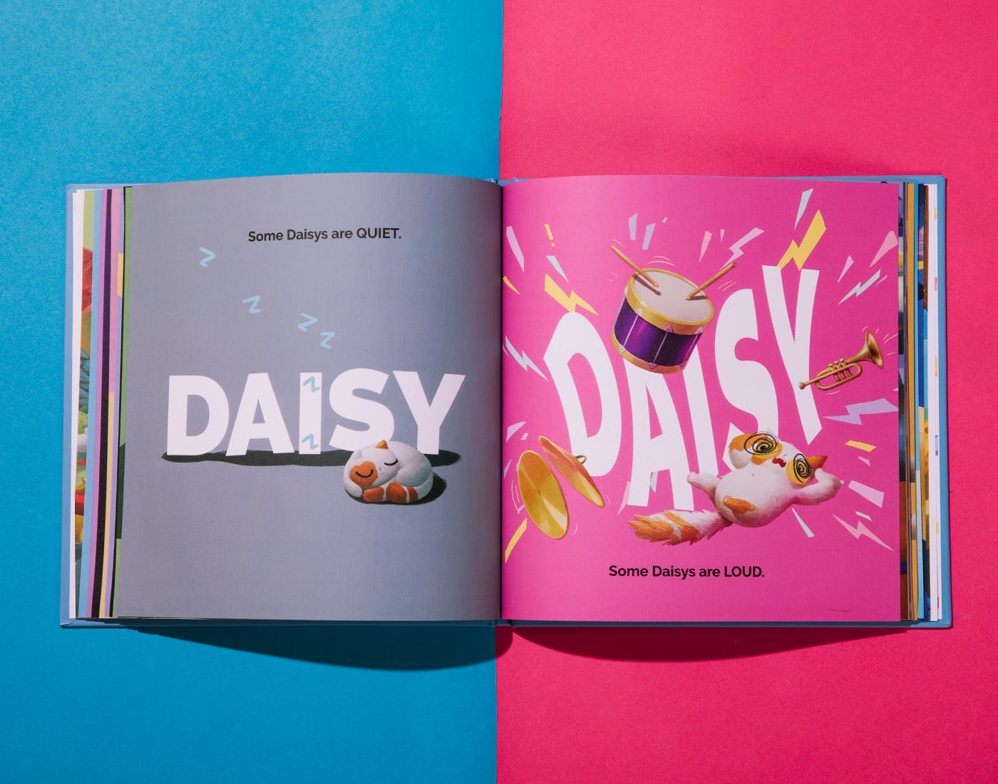 What Kind Of You pink and grey inner pages Daisy