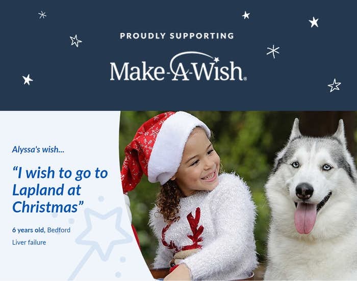 Front cover of Christmas Wishes For You and support for Make-A-Wish