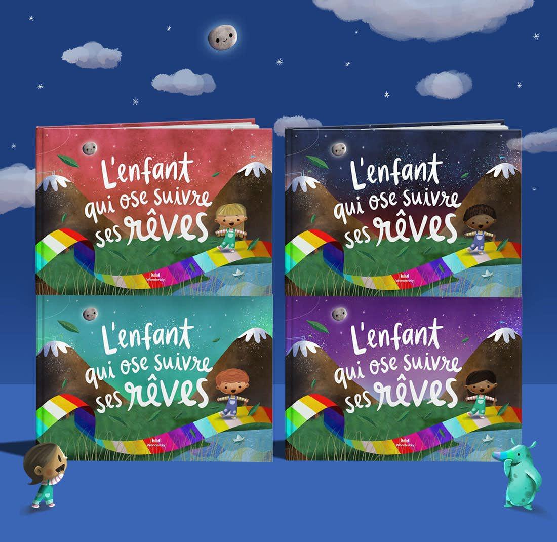 Pile de livres L'enfant qui ose suivre ses rêves montrant la couverture