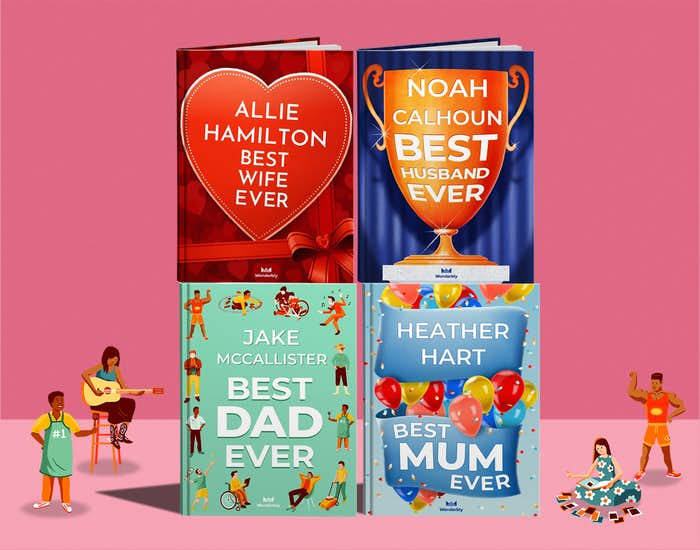 Different versions of personalised grown up books