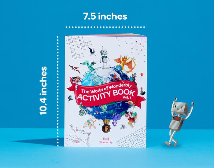 Image of activity book dimensions