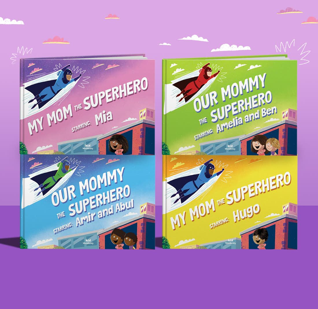 Example of My Mummy The Superhero's personalized book cover