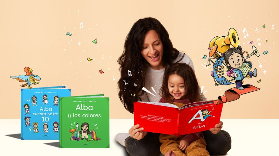 Mother + Daughter reading ABC (ES)