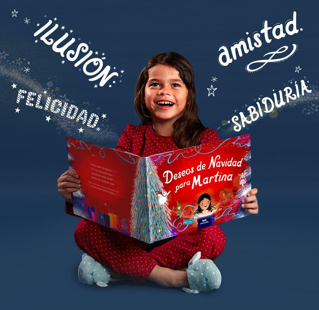 Niña con Deseos de Navidad para ti