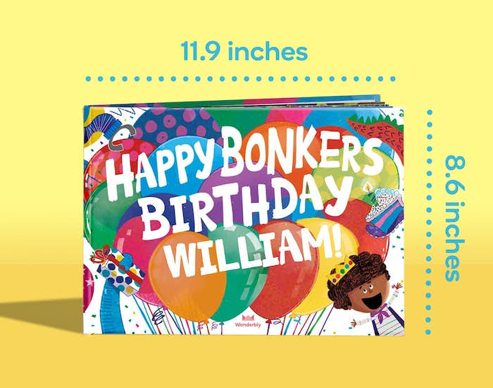Dimensions of Happy Bonkers Birthday
