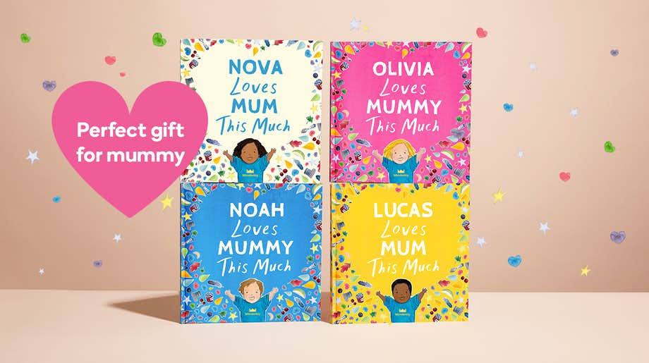 Four colour options for the front cover showing Mom and Mommy