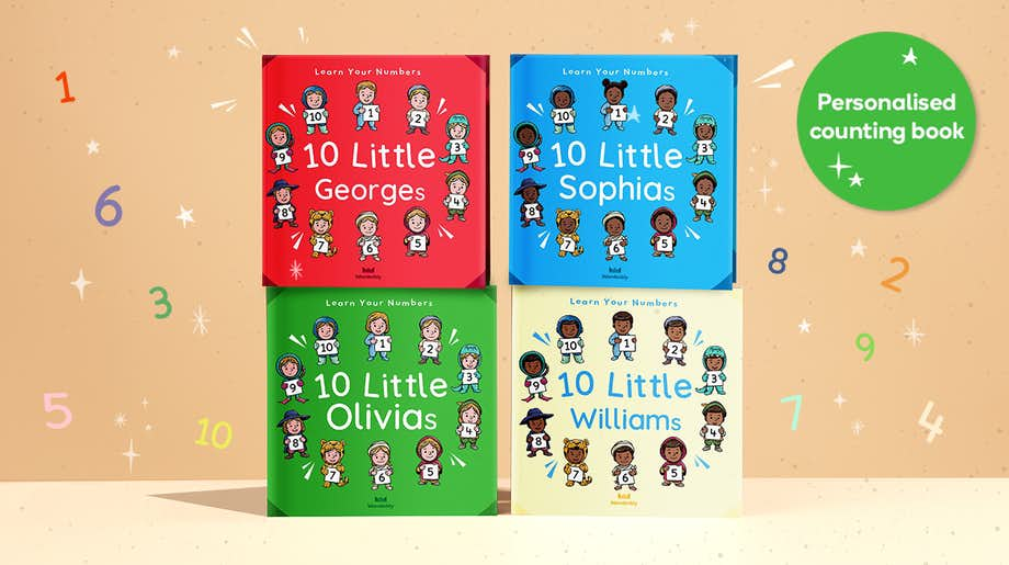 Personalised counting book