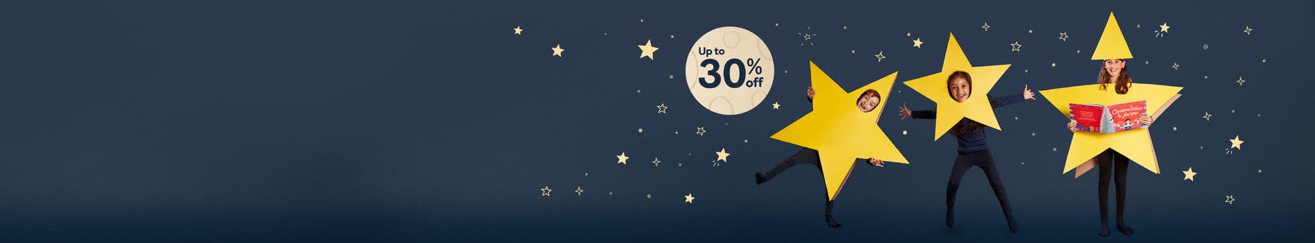 Up to 30% off personalised children's books