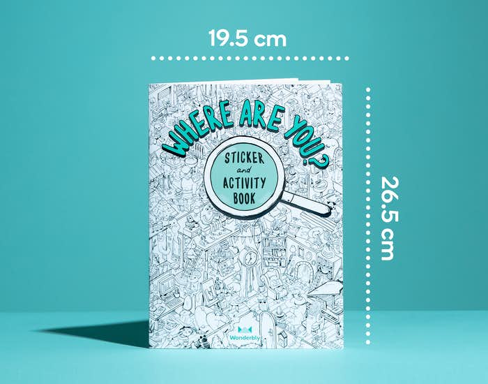 Image of journal-sized Where Are You Sticker and Activity Book 19.5 cm by 26.5 cm