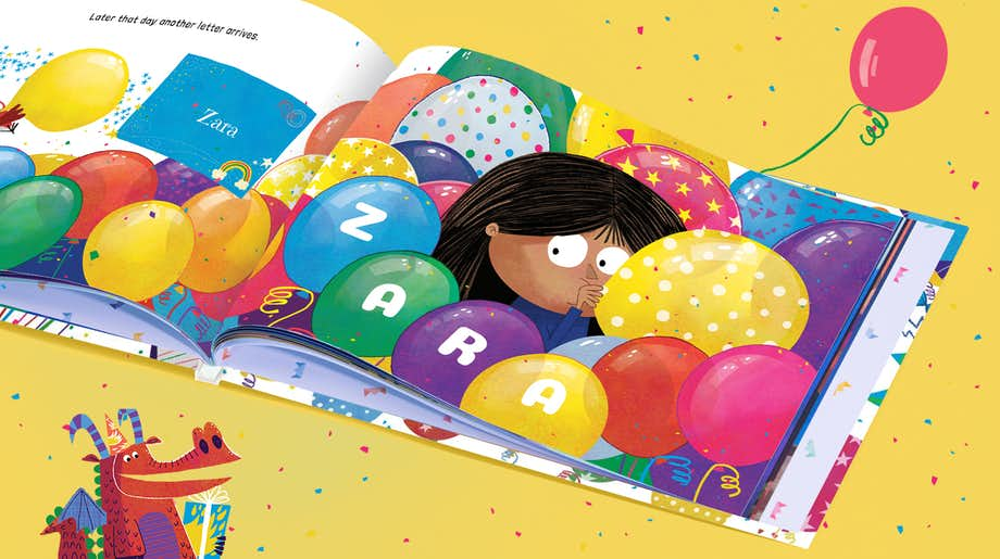 Personalized spread in Happy Bonkers Birthday