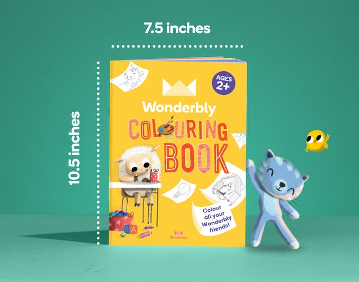 Dimensions of Wonderbly Colouring Book